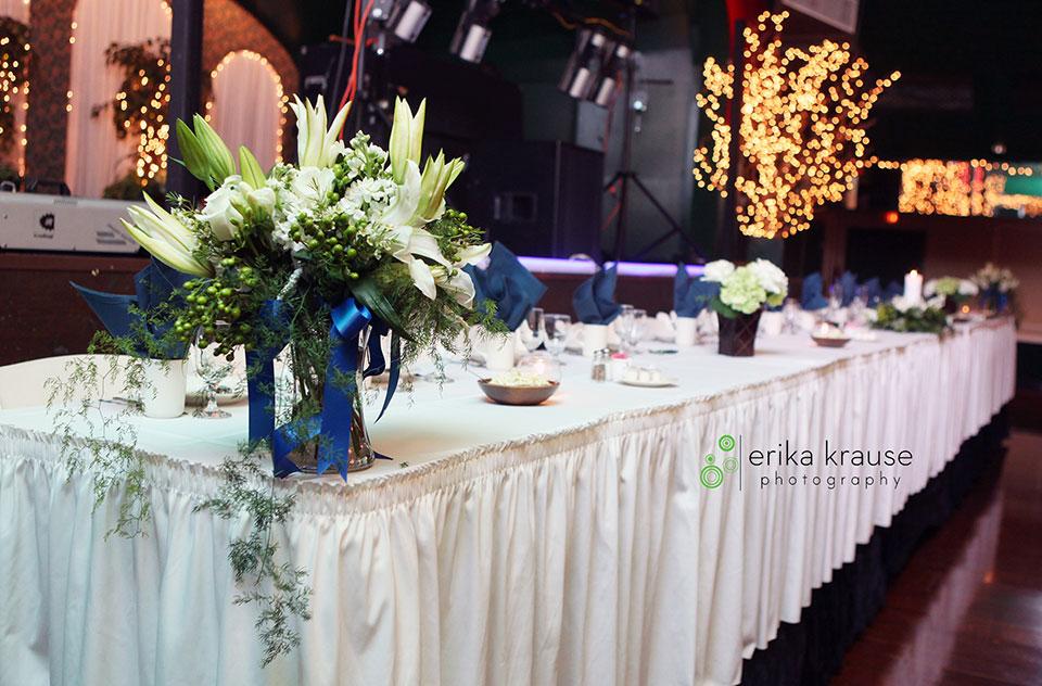 wedding flower table in green bay wi