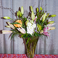 Wedding Flower Bouquets Lillies and Roses in Green Bay, WI
