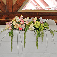 Bride and Groom Table Flowers in Green Bay, WI